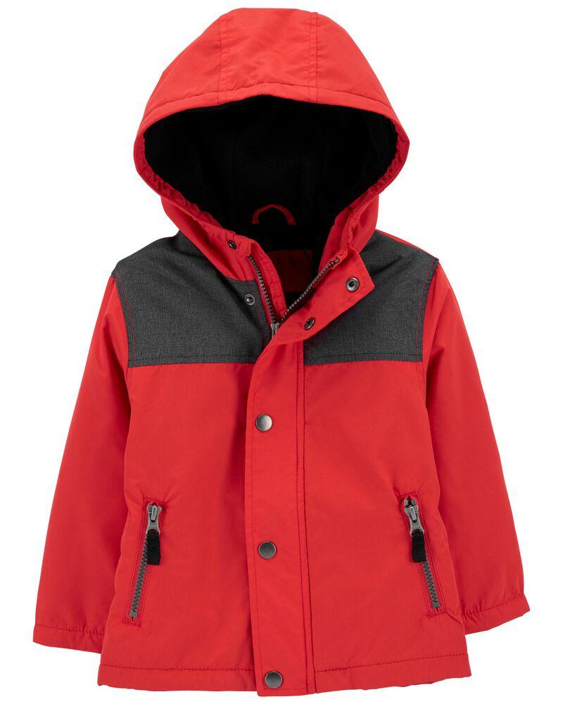 Fleece-Lined Colourblock Jacket, , hi-res