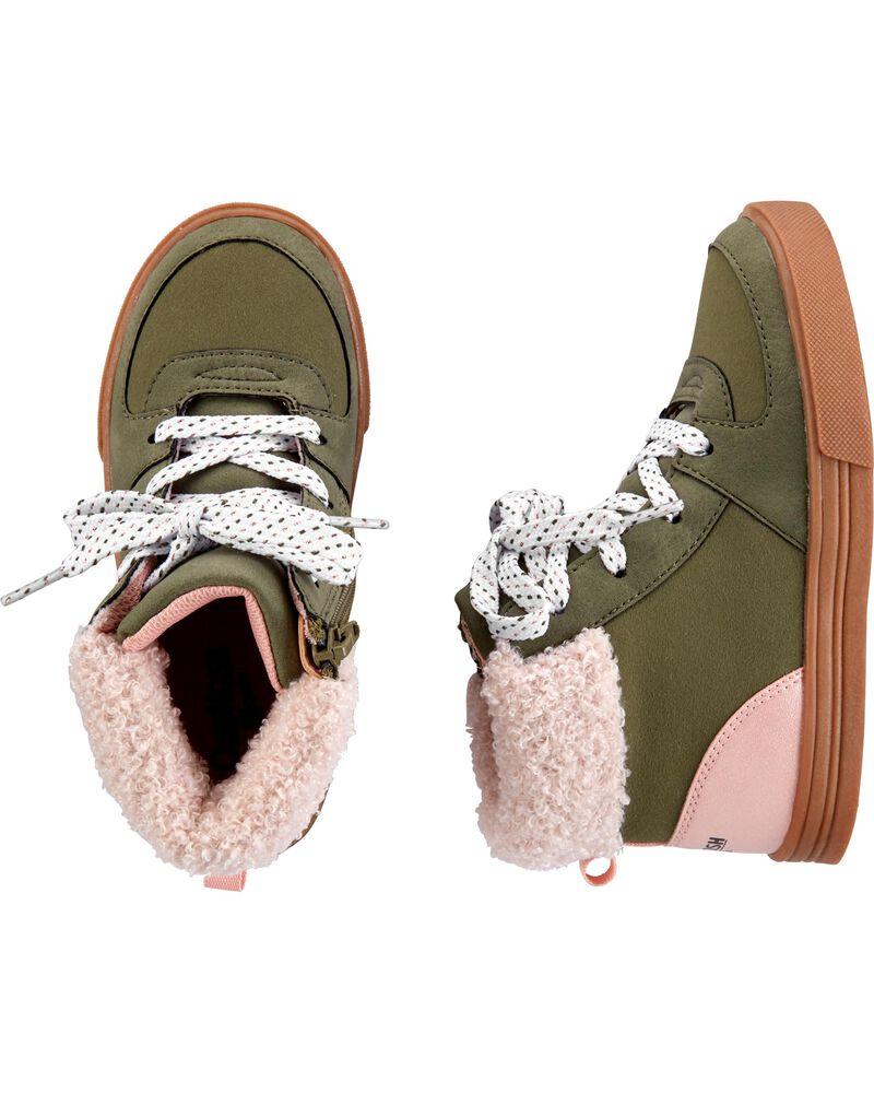 Sherpa Collar Sneaker Boots, , hi-res