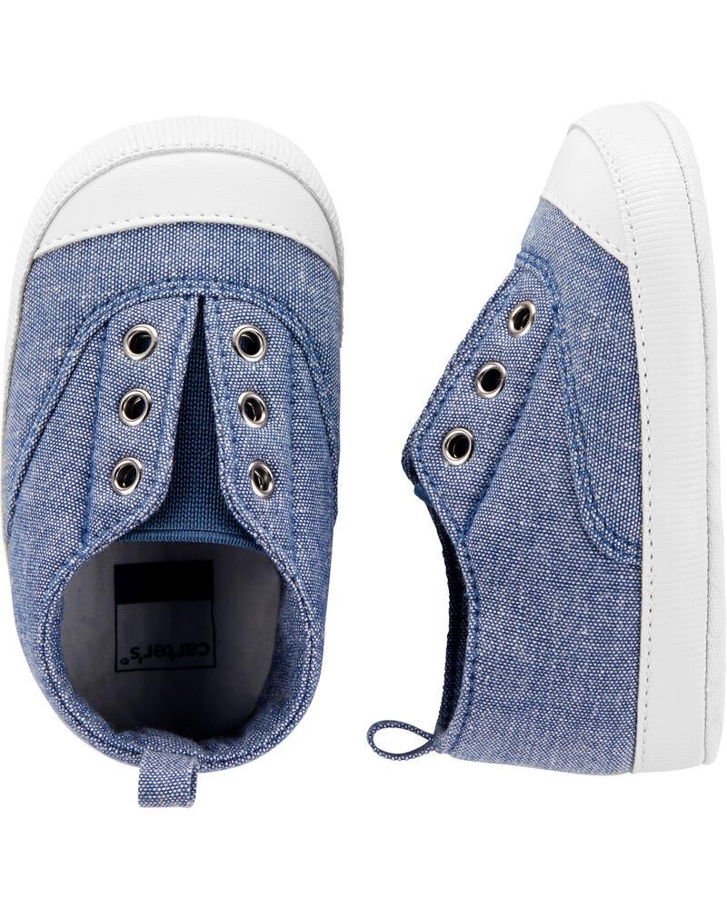 Chaussures à enfiler en chambray, , hi-res