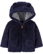 Hooded Sherpa Jacket, , hi-res