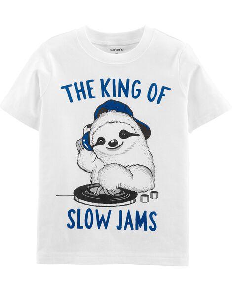 T-shirt en jersey à DJ paresseux