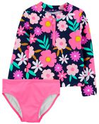 Floral 2-Piece Rashguard Set, , hi-res