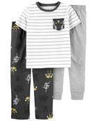 Pyjama 3 pièces de coupe ample à robot, , hi-res