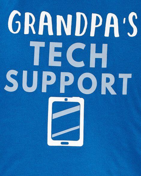 Grandpa's Tech Support Jersey Tee