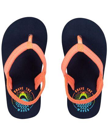 Brave The Waves Flip Flops