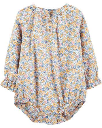 Ditsy Floral Poplin Bodysuit