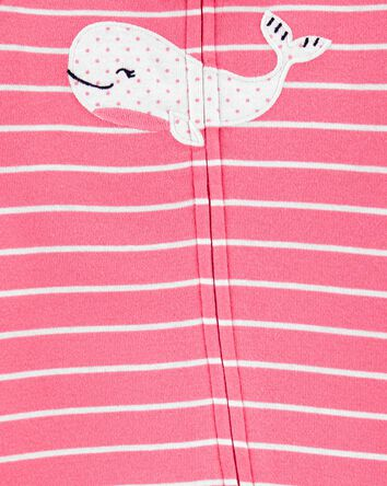 Whale 2-Way Zip Cotton Sleep & Play