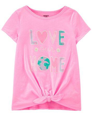 T-shirt en jersey Love Our Home