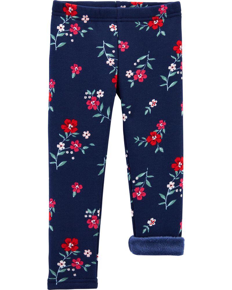 Floral Cozy Fleece-Lined Leggings, , hi-res