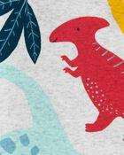 Grenouillère sans pieds à glissière motif dinosaure, , hi-res
