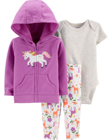 3-Piece Unicorn Little Jacket Set