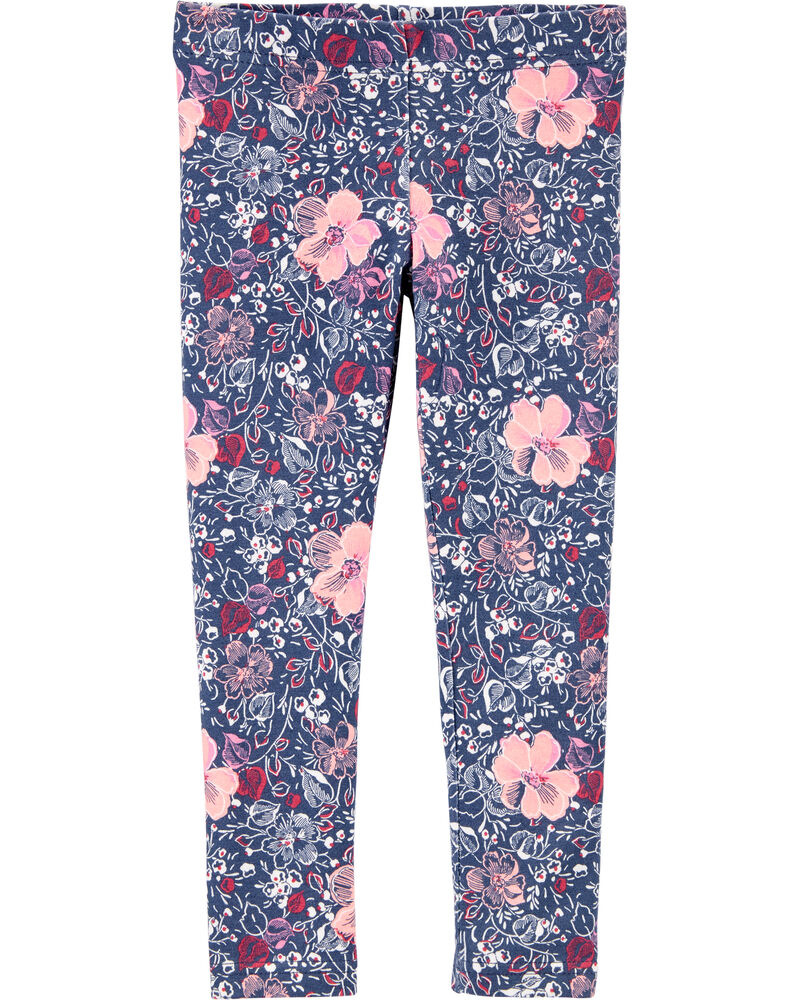 Floral Jersey Leggings, , hi-res