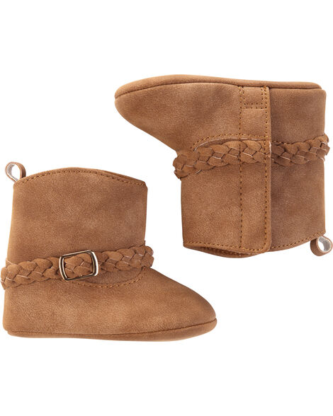 Chaussures souples pour bébés à lanière tressée