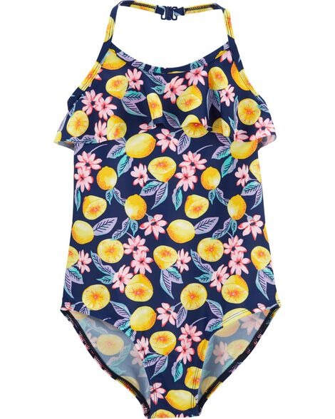 Fruit One Piece Halter Swimsuit