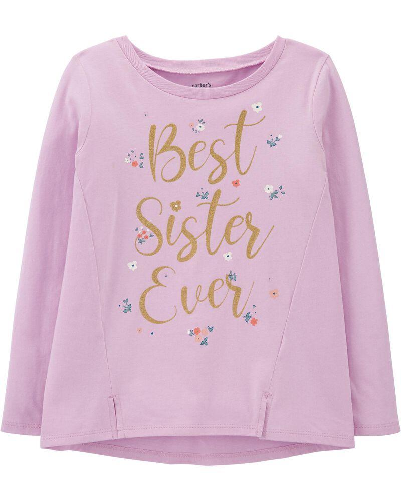 T-shirt en jersey Best Sister Ever, , hi-res