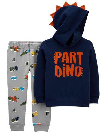 2-Piece Part Dino Pullover & Jogger...
