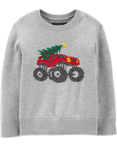 Monster Truck Holiday Pullover