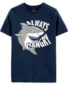 T-shirt en jersey Always Hangry Shark, , hi-res