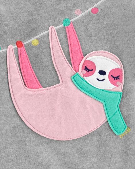 Pyjama 2 pièces en molleton avec paresseux