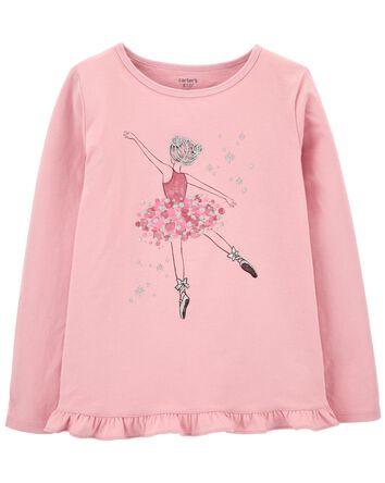 T-shirt en jersey à ballerine