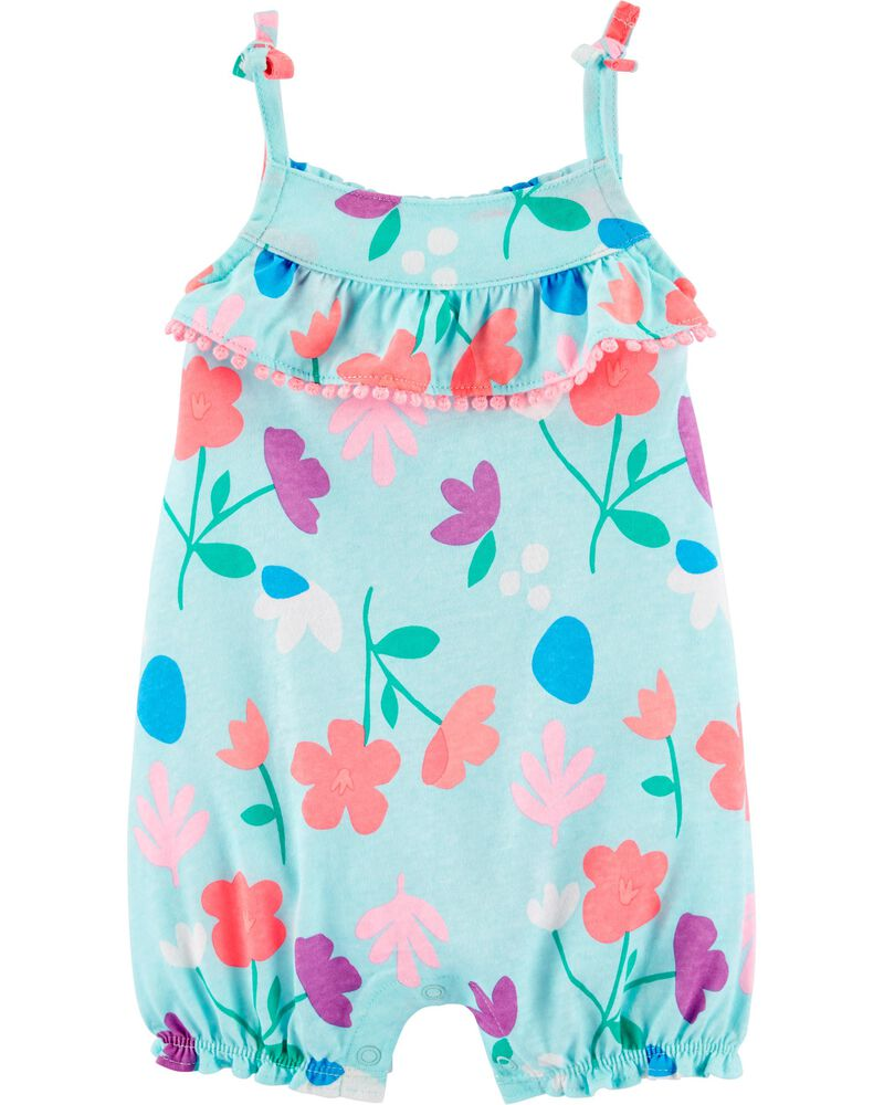 Floral Snap-Up Romper, , hi-res