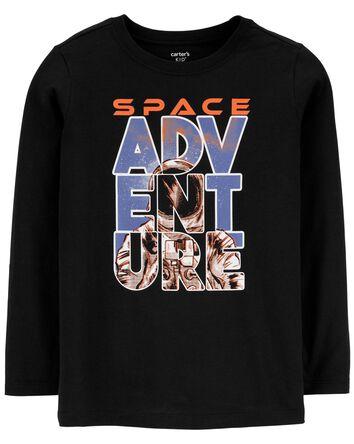 T-shirt en jersey à imprimé de l'es...
