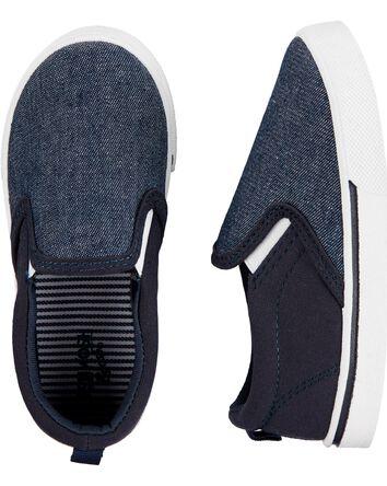 Navy Slip-On Shoes