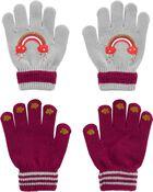 Emballage de 2 paires de gants arc-en-ciel à paume agrippante Kombi, , hi-res