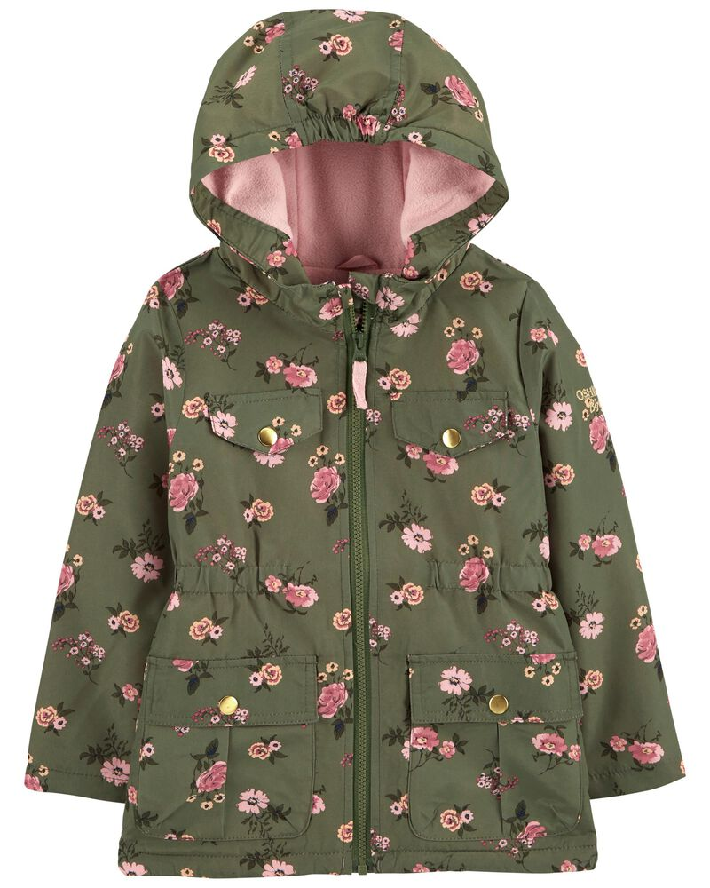 Floral Fleece-Lined Midweight Jacket, , hi-res