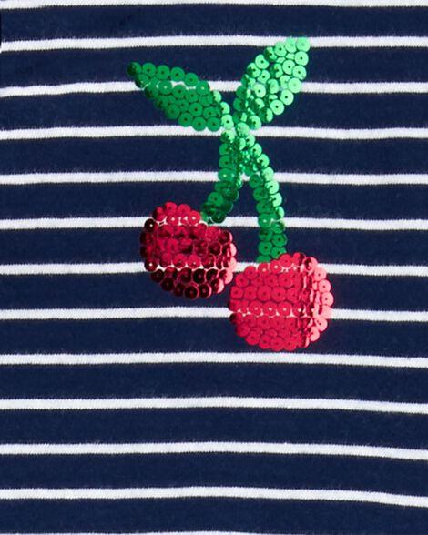 2-Piece Striped Cherry Top & Legging Set