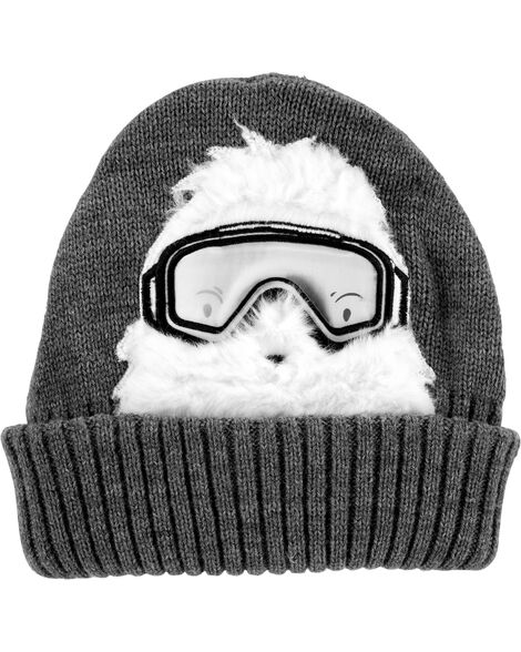 Abominable Snowman Knit Hat