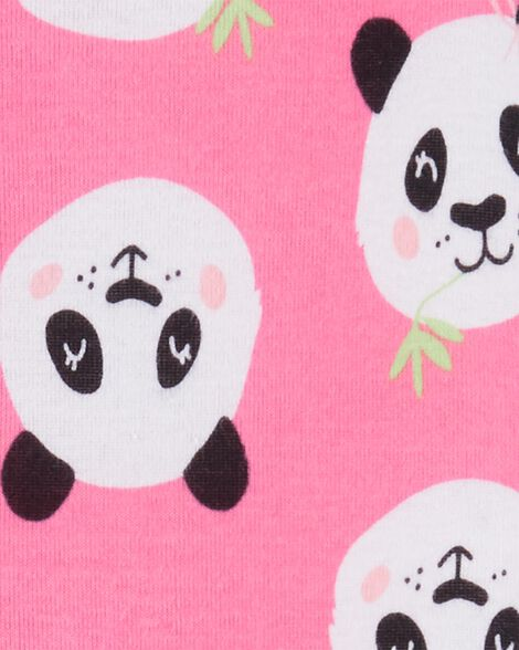 1-Piece Panda Snug Fit Cotton Footie PJs