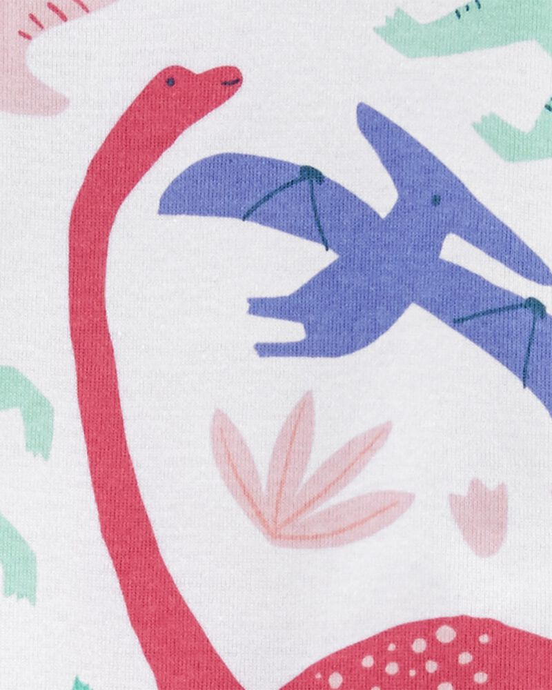1-Piece Dinosaur 100% Snug Fit Cotton Footie PJs, , hi-res