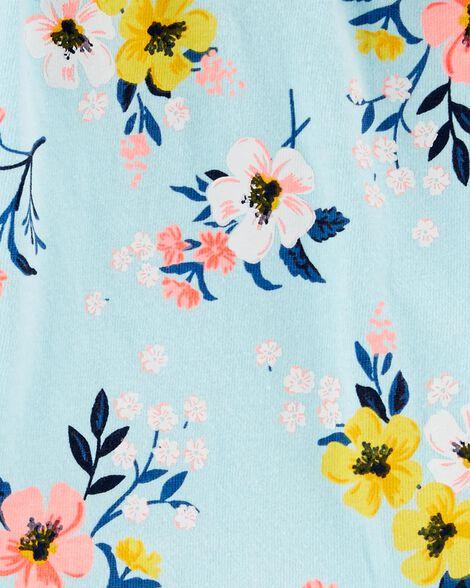 Ensemble 2 pièces cache-couche fleuri et pantalon