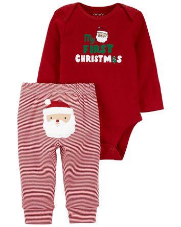 2-Piece Holiday Bodysuit Pant Set