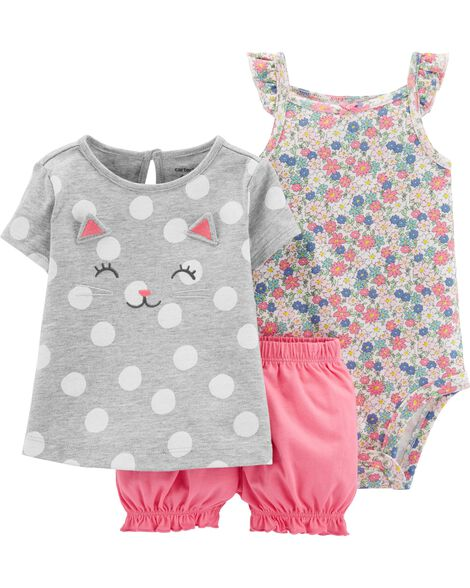 3-Piece Little Bubble Short Set