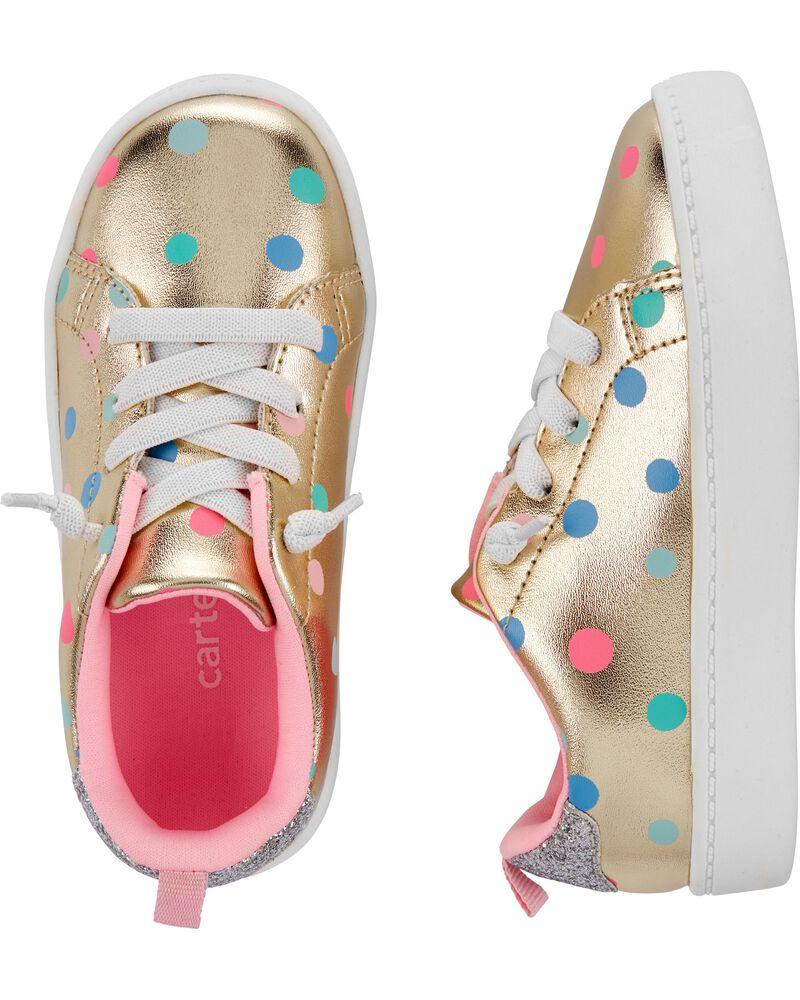 Polka Dot Platform Sneakers, , hi-res