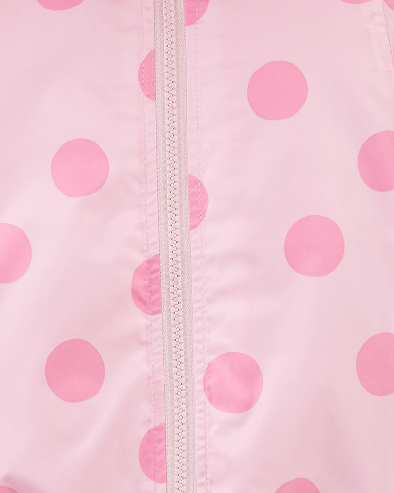 Polka Dot Jersey-Lined Windbreaker, , hi-res