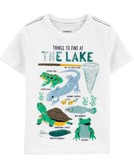 T-shirt en jersey flammé Things To Find At The Lake