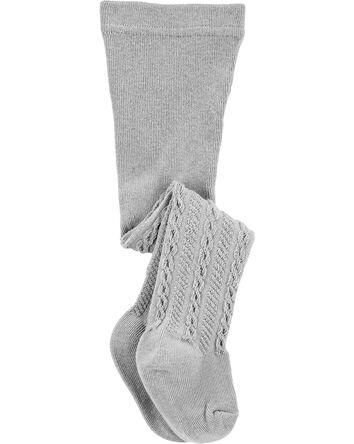 Collant en tricot torsadé