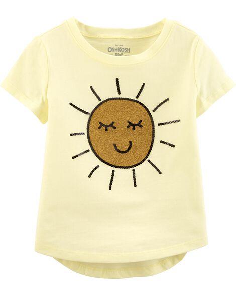 T-shirt à soleil scintillant