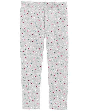 Polka Dot Cozy Fleece-Lined Legging...