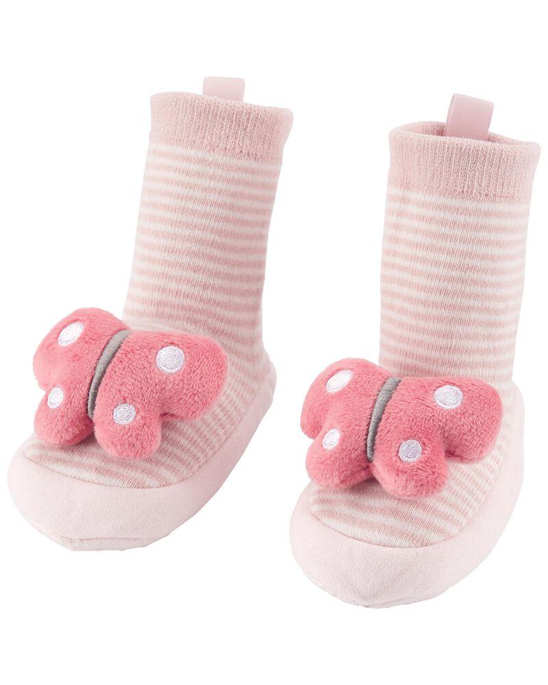 Baby Butterfly Slipper Socks, , hi-res