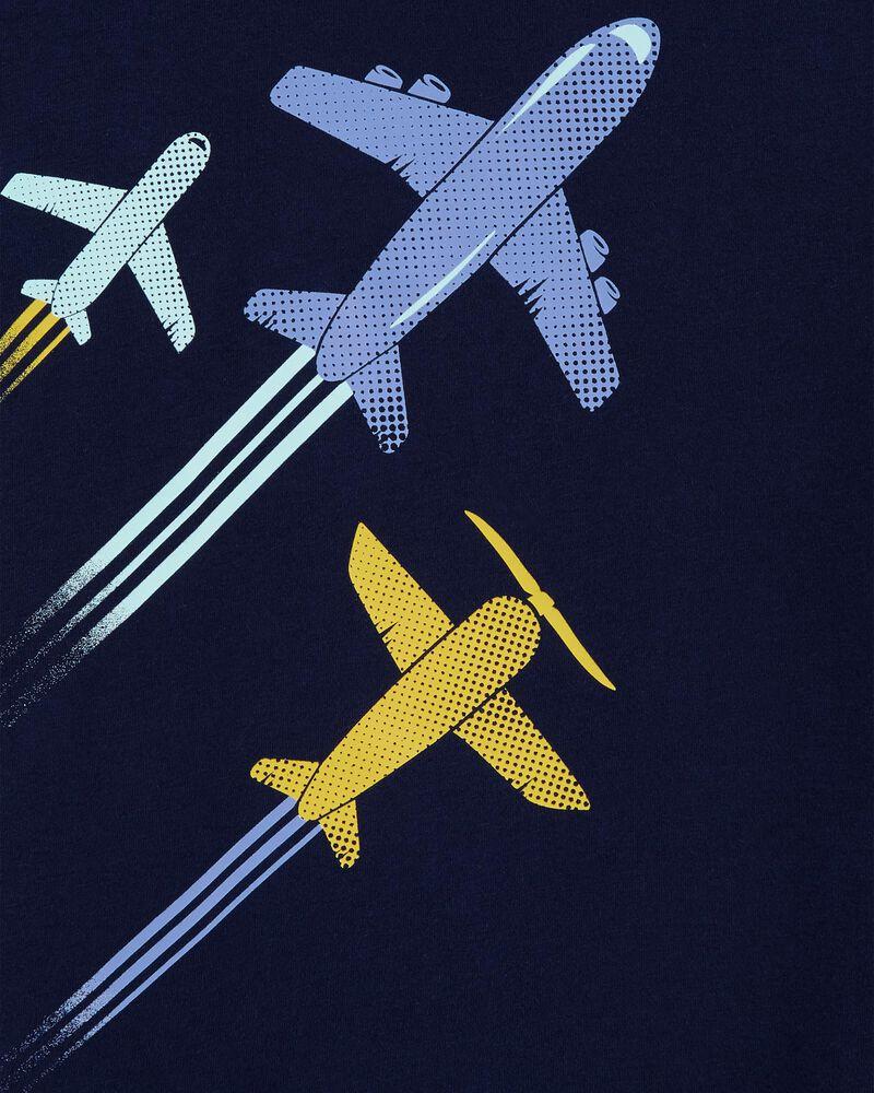 T-shirt en jersey à avions, , hi-res
