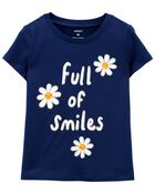 Full Of Smiles Daisy Jersey Tee, , hi-res