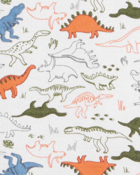 Barboteuse à boutons-pression avec dinosaure