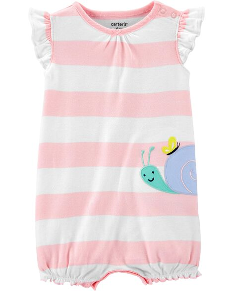 Striped Snail Romper