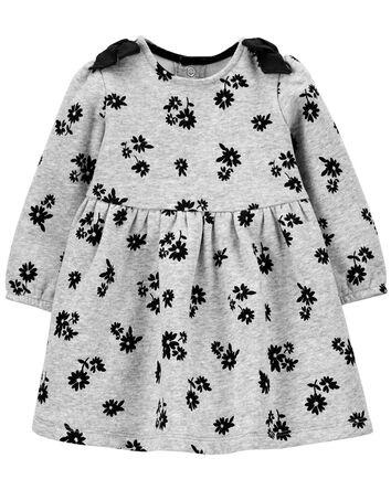 Floral Cozy Bow Dress