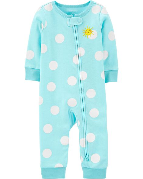 Sun 2-Way Zip Cotton Footless Sleep & Play
