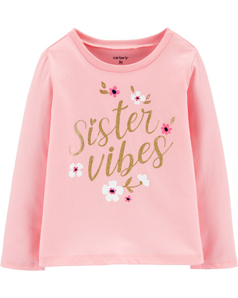 Glitter Sister Vibes Jersey Tee